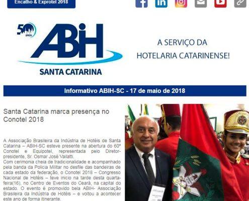 Informativo ABIH-SC 17 de maio de 2018