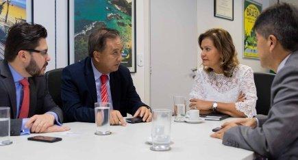 Tété Bezerra se reúne com secretário de turismo do Mato Grosso, Jaime Okamura e com diretor da Abav, Gervasio Tanabe