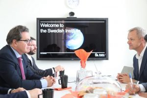 Nesta sexta-feira (24), ministro reuniu-se com representantes do Sweedish Institute, Visit Sweeden, Ministério de Indústria e Inovação da Suécia e operadores de viagens no país.