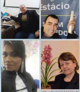 Julio Cesar Berndsen, Fabrício Silva, Josiane Castilhos e Carla Trindade