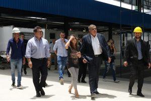 MInistros Lummertz e Marun em vistoria às obras do Centro de Educação Integral de Bombinhas (SC).