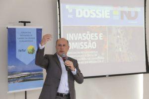 residente do Grupo RIC SC apresentou dados do Dossiê ND. Foto: Anderson Coelho/ND
