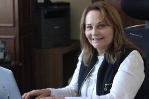 Gladys Dinah é secretária de Turismo de Pomerode (SC) e foi uma das egressas do último curso promovido pelo MTur. Foto: Arquivo Pessoal/MTur