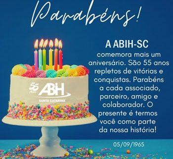 ABIH-SC completa 55 anos