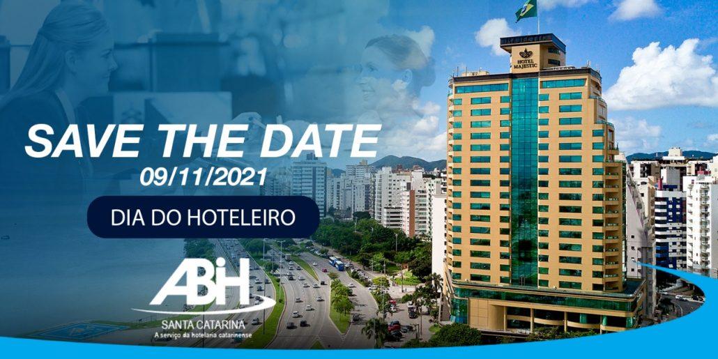 save the date - Dia do Hoteleiro - ABIH-SC 2021