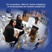 Em novembro, ABIH-SC reúne hoteleiros e fornecedores em evento presencial